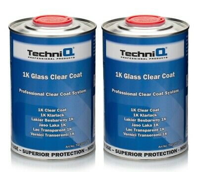 1K CLEAR COAT LACQUER / HIGH GLOSS / UV RESISTANT / READY FOR USE 2 x 1L CANS