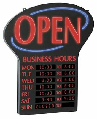 "Newon LED Lighted Business""Open"" Sign Electronic Programmable Business Hours ..."