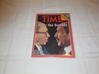 Time Magazine September 25, 1978 Begin and Sadat. After the Summit