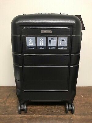 34a9d17e29 BROOKSTONE Hardside 20 Inch Spinner Luggage Carry On Suitcase with Charging  Port