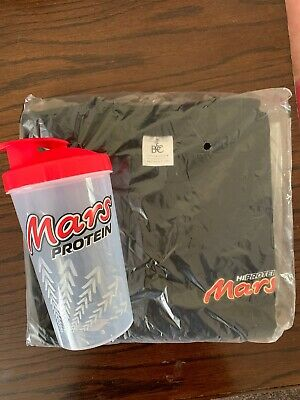 Mars Protein Tshirt SIZE M And Shaker NEW Gym Gift