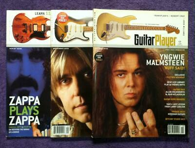 Malmsteen Dweezil Zappa Eric Johnson 🔥Guitar Player Magazines🔥 with FREE SHIP