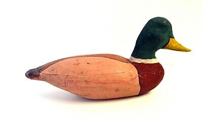 "Antique Hand Painted Wooden Duck Decoy 12"" Mallard Duck Decoy"