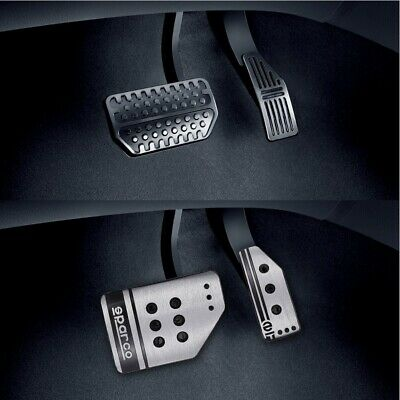 Car Clutch Manual Brake Stainless Steel  Anti-Skid Pedal Pad Universal Silver