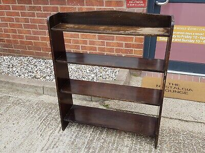 Vintage CC41 Utility Stamped Wood Book Case.
