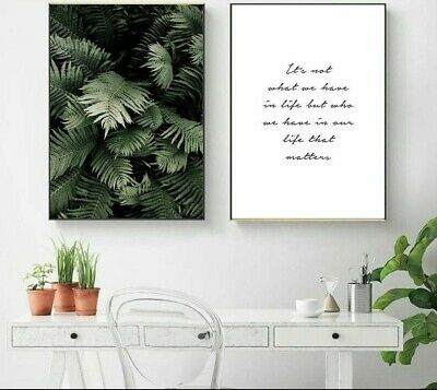 Unframed Posters Motivational Quotes Canvas Printed Painting Home Wall Art Decor