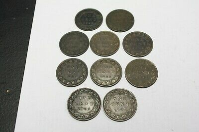 Canada Large Cent 1859 1876H 1881H 1882H 1884 1887 1888 1892 1895