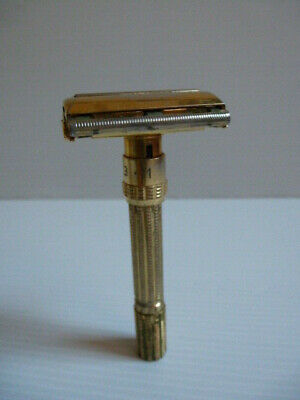 Vintage Gillette Aristocrat Adjustable 1-9 Safety Tto Razor Rasoio  K2 1965
