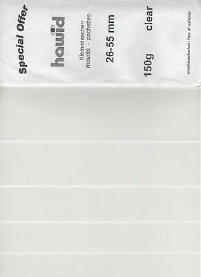 Hawid Stamp Mount Strips (clear), 84 strips, Length 21.8cm & Various Heights