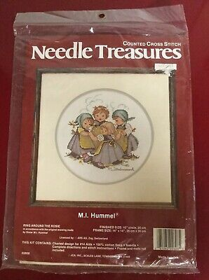 Needle Treasures RING AROUND THE ROSIE Hummel Counted Cross Stitch Kit Vintage!