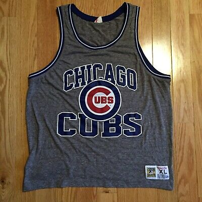 bd405b98 Chicago Cubs MLB Mitchell & Ness Tank Top Cooperstown Collection XL