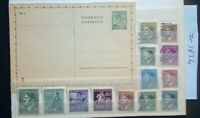 German Ww2 Stamps, /Postcard, Occupied Bohemia And Moravia, 1939/45.