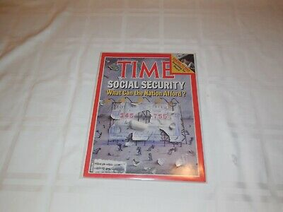 Time Magazine May 23, 1982 Social Security