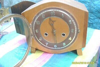 Mantel  Clock  Smiths  Striking  Mantel  Clock Working  Key & Pendulum