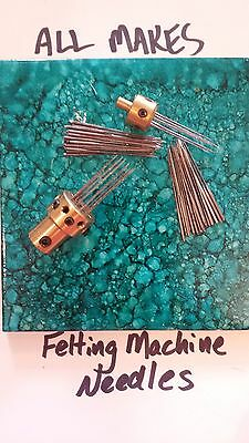 Fits ALL Felting Machines- needles-24- XFine,Fine, Med, Coarse-Triangle- 24 Ct