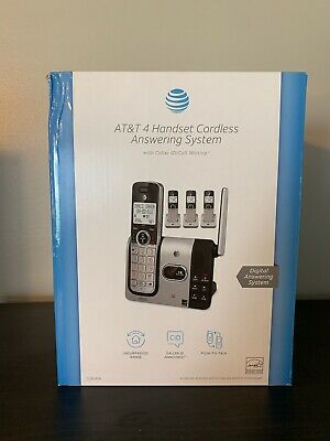 AT&T 4 Handset Cordless Answering System Home Phone - CL82414 - NEW