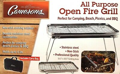 Camerons Scout Grill All Purpose Open Fire Grill Smoker BBQ Camping Picnic Beach