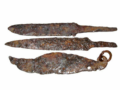 Lot Of 3Pcs. Roman Period Iron Knives, Good Condition+++