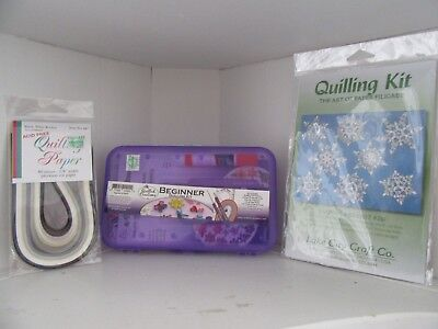 Quilling Kit Bundle Lot Paper Tools Toolbox Snowflakes Pattern #261 New Unused