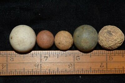 Lot of 5 Game Ball Marbles Found In Southern Illinois D1 NN