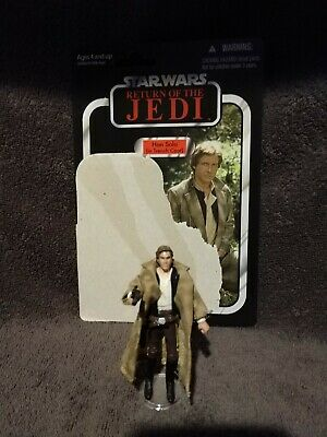 VINTAGE COLLECTION COMPLETE STAR WARS HAN SOLO W TRENCH COAT hasbro w card VC62