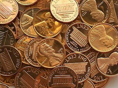 1962 - 2006 S Lincoln Memorial Proof Penny Cents  Spots/Problem Coin Roll of 50