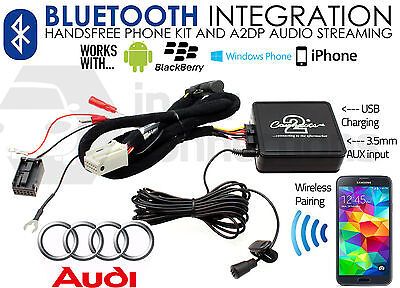 Audi A3 Bluetooth Streaming Vivavoce Aux MP3 Ipod IPHONE Sony HTC 2006 Su