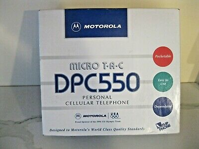 Motorola Micro T-A-C Dpc550 Cellular Telephone With Accessories & Directions
