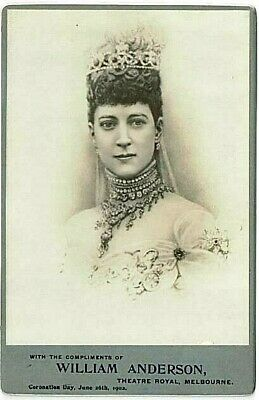 Queen Alexandra - Coronation Day, June 26th 1902 - Cabinet Card