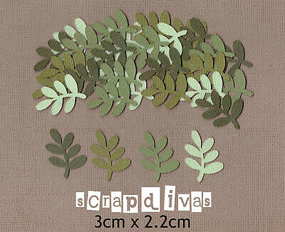 Scrapbooking Cardstock - Rock Leaf DESIGN 1 - Die Cuts x 30