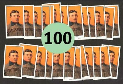 Lot of 100 - HONUS WAGNER 1909 T206 Piedmont REPRINT TOBACCO CARDS