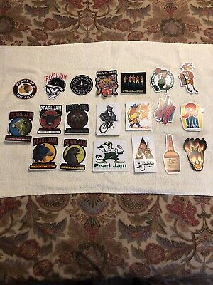 PEARL JAM Sticker Lot Mint Collector Condition 20 Total