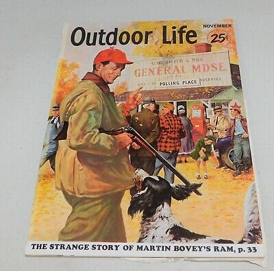 Outdoor Life Magazine November 1952 Hunting Cover ~ Free Shipping