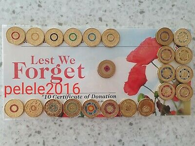 $2 two dollar coins 2012 Red Poppy RSL 2013 Purple Coronation Anzac Olympic ++