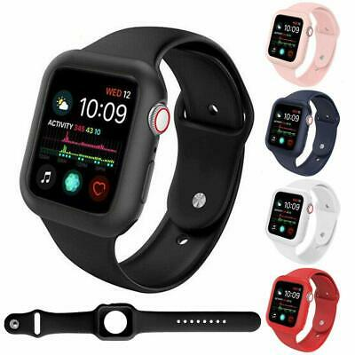 For Apple Watch Series 5 4 3 2 1 Armor Case Cover+Silicone Band Strap 38/40/44mm