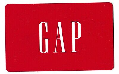 Gap collectible gift card no value mint #08 Red