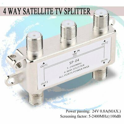 1:2 RF CABLE Signal Splitter 75Ohm 1 In to 2 4dB Outs