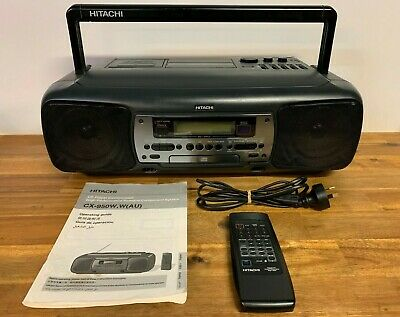 Hitachi CX-950W High Performance Portable Component System CD / Cassette Rare