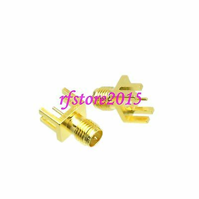1pce Connector RP-SMA female solder 9.0mm PCB clip edge mount RF COAXIAL