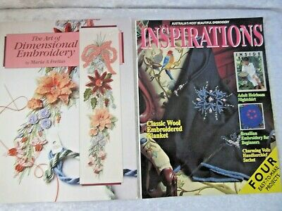 EMBROIDERY - Inspirations 4 easy patterns + The Art of Dimensional Embroidery Bk
