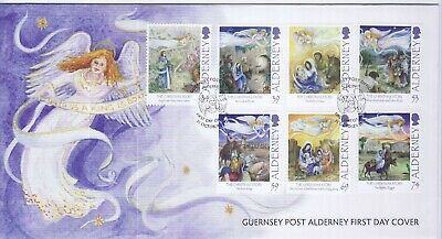 GB Stamps First Day Cover Alderney Christmas Story, religion etc SHS Angel 2012