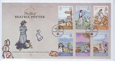 GB Stamps First Day Cover Alderney Life of Beatrix Potter, story SHS Mouse 2013