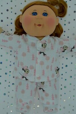 """Play n Wear Doll Clothes For 14""""Cabbage Patch PJ'S~FLANNELETTE PANTS~TOP~BOOTIES"""