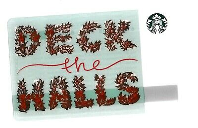 Starbucks collectible gift card no value mint #168 Deck the Halls