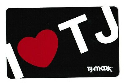 T.J. Maxx no value collectible gift card mint #02 I Love TJ