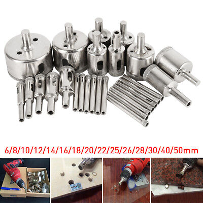 28pcs 3-50mm Diamond Drill Bit Hole Saw Cutter Tool for Glass Marble Ceramic