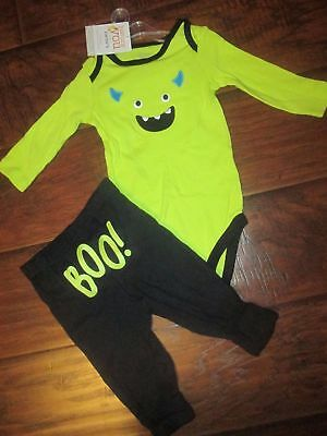 f26289ae5 Boys Carter's 2p MONSTER outfit Set BOO! (on tush) 3m or 6m months