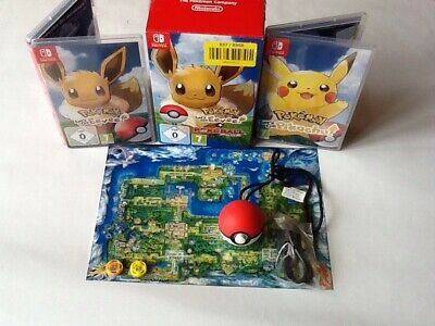 Nintendo Switch Pokemon Games  Eevee And Pikachu And  pokeball let's go & cable