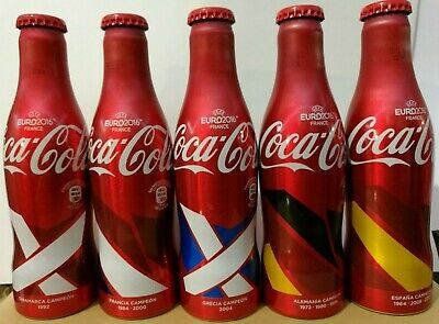 "Coca Cola,Bouteille VIDE 5X250.Coke EMPTY Bottle.""5CHAMPION"" FRANCE UEFA2016(E"