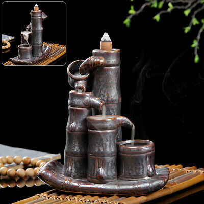 Incense Burner Furnace Buddhist Accessories Ornament Ceramic Craft Waterfall